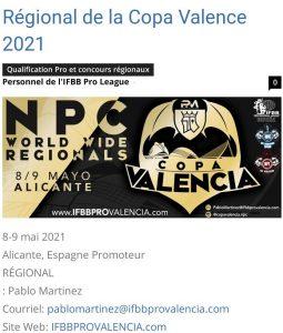 Copa Valencia NPC Espagne 8 & 9 mai 2021
