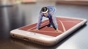 téléphone et sport
